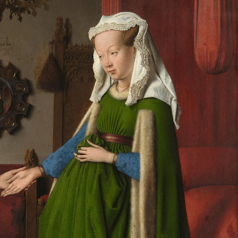 Arnolfini portrait woman