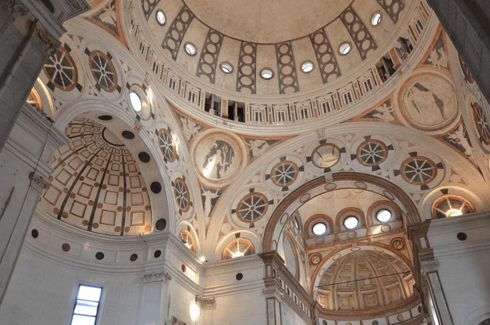 Santa Maria delle Grazie inside dome