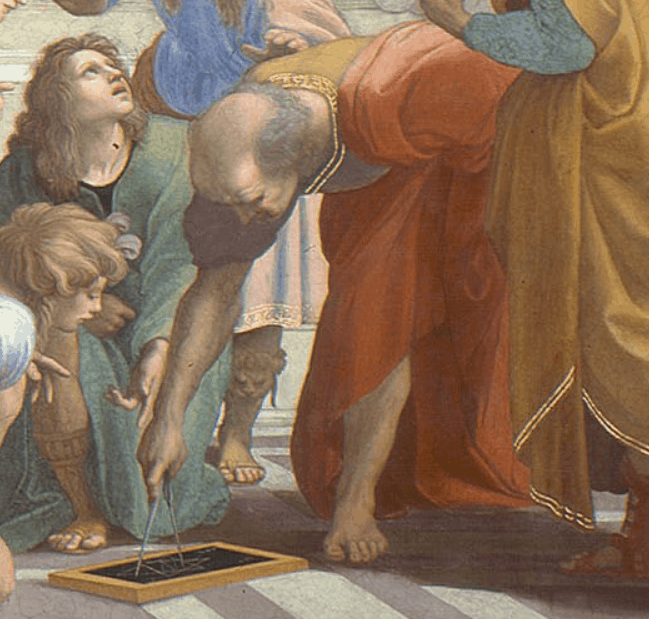 Bramante as Euclid or Archimedes