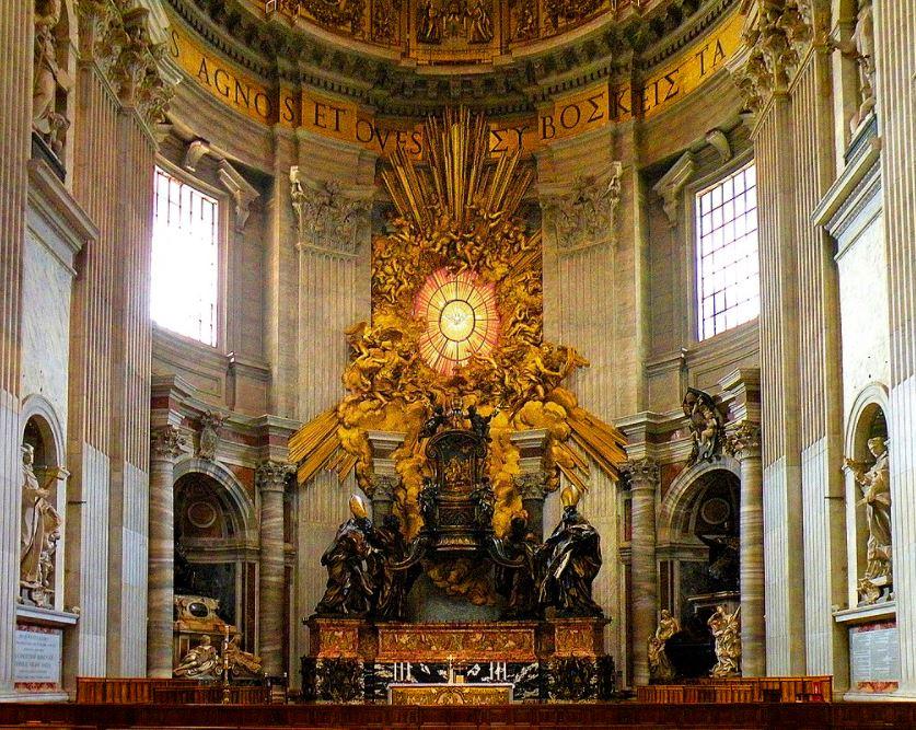chair of saint peter bernini