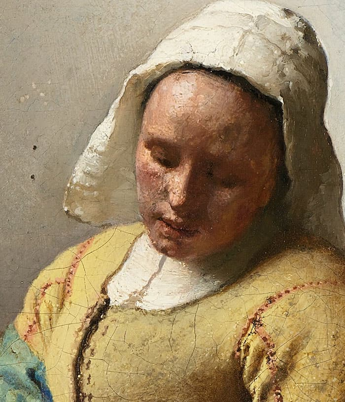 detail of the glance of the milkmaid