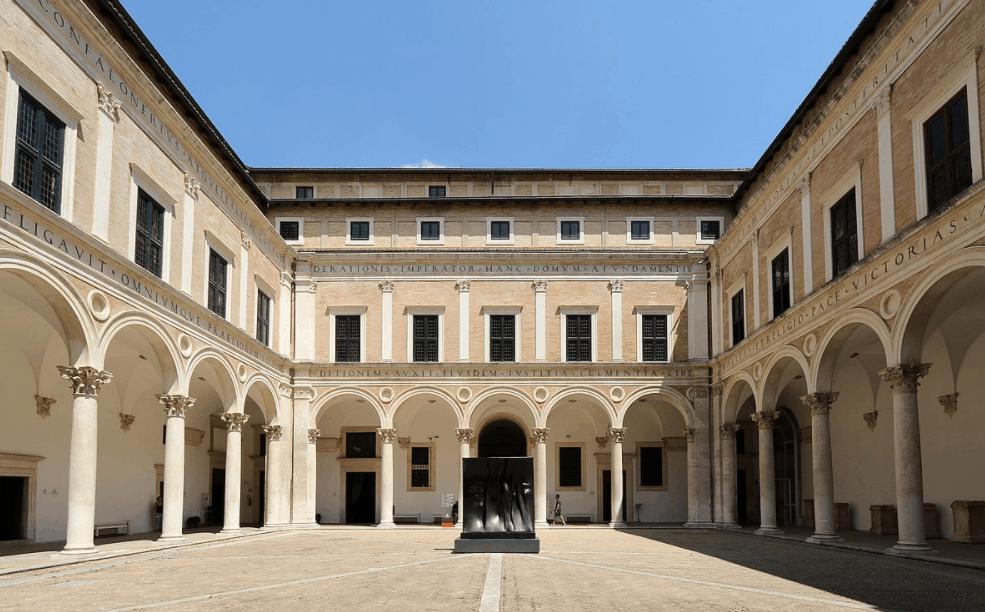 Ducal Palace Urbino courtyard
