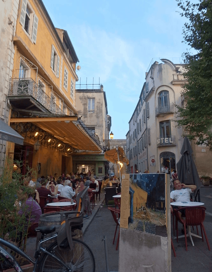 facts about cafe terrace at night