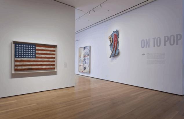 flag painting museum of modern art new york city