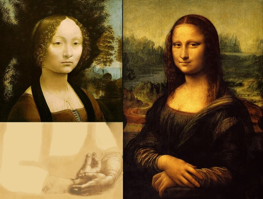 Ginevra de Benci and mona lisa