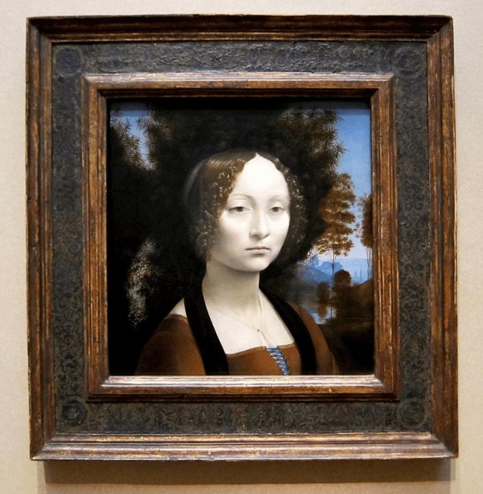 Ginevra de Benci in museum