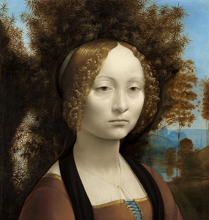 Ginevra de' Benci leonardo da vinci most famous paintings