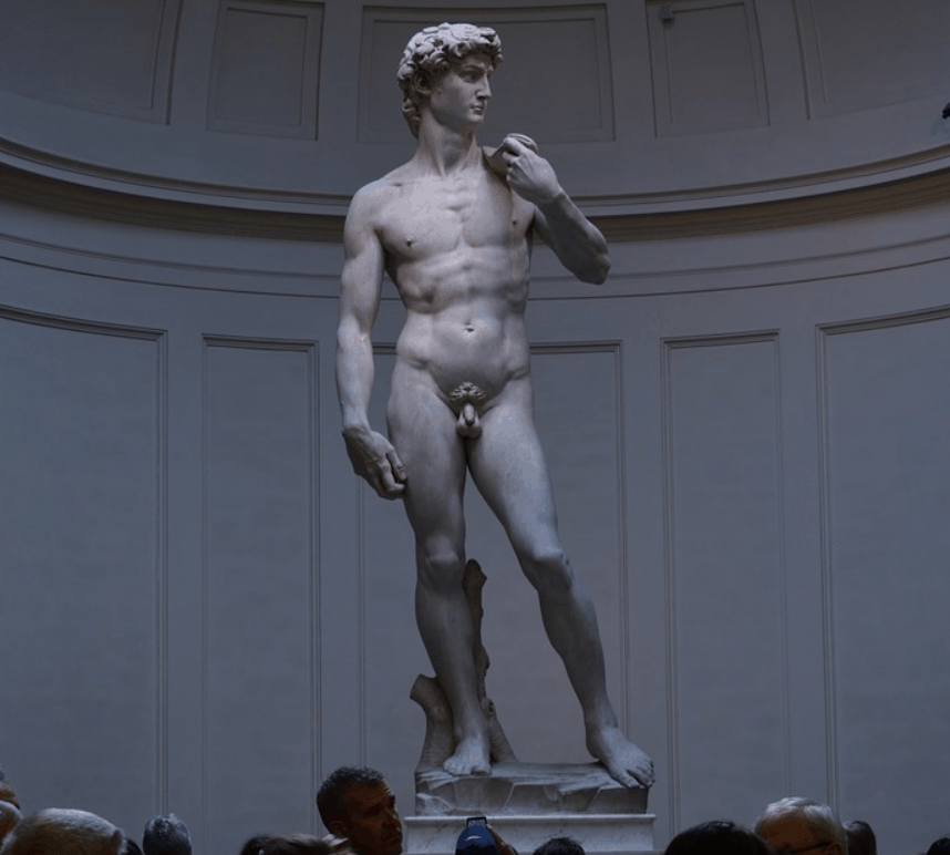 How big is the statue of David