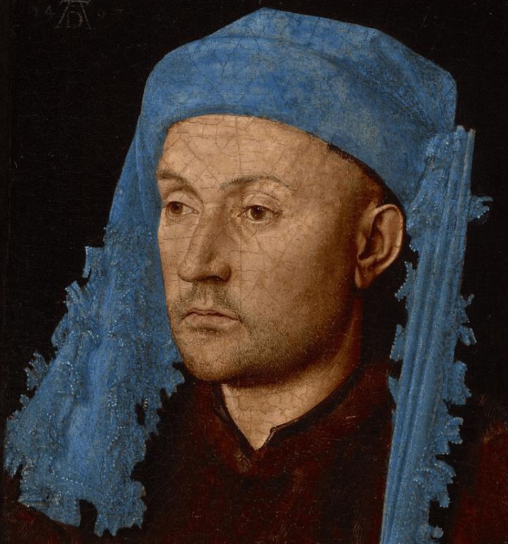Portrait of an unkown man by Jan van Eyck