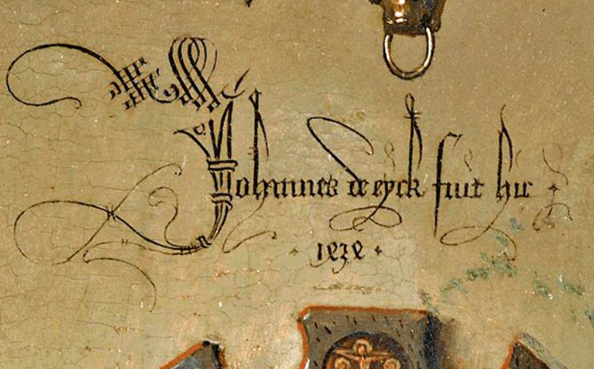 Signature of Jan van Eyck