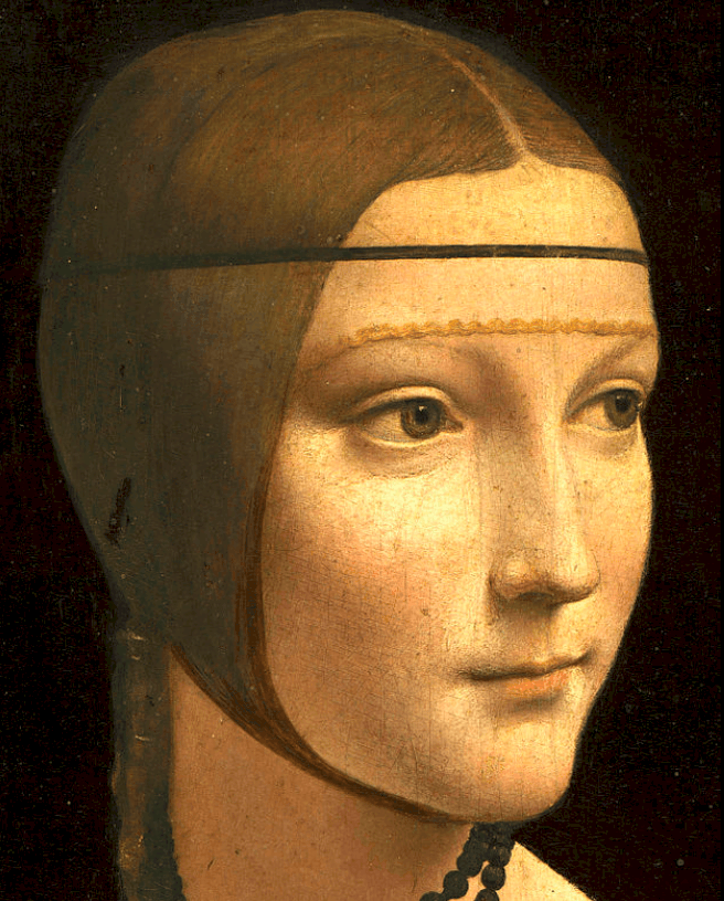 detail of the lady