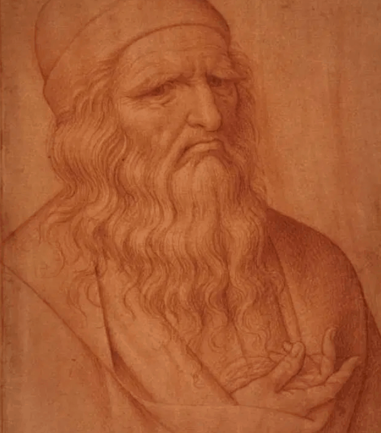Leonardo da Vinci with claw hand
