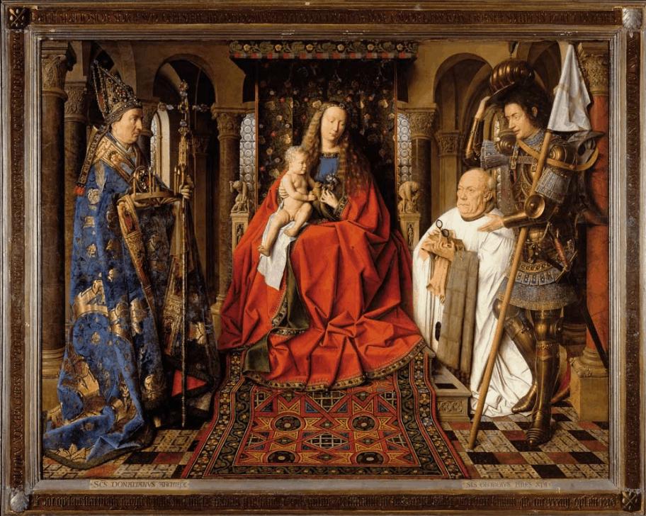 The Virgin and Child with Canon van der Paele jan van eyck