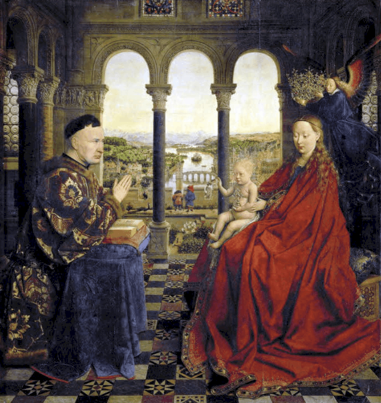 Madonna of Chancellor Rolin jan van eyck