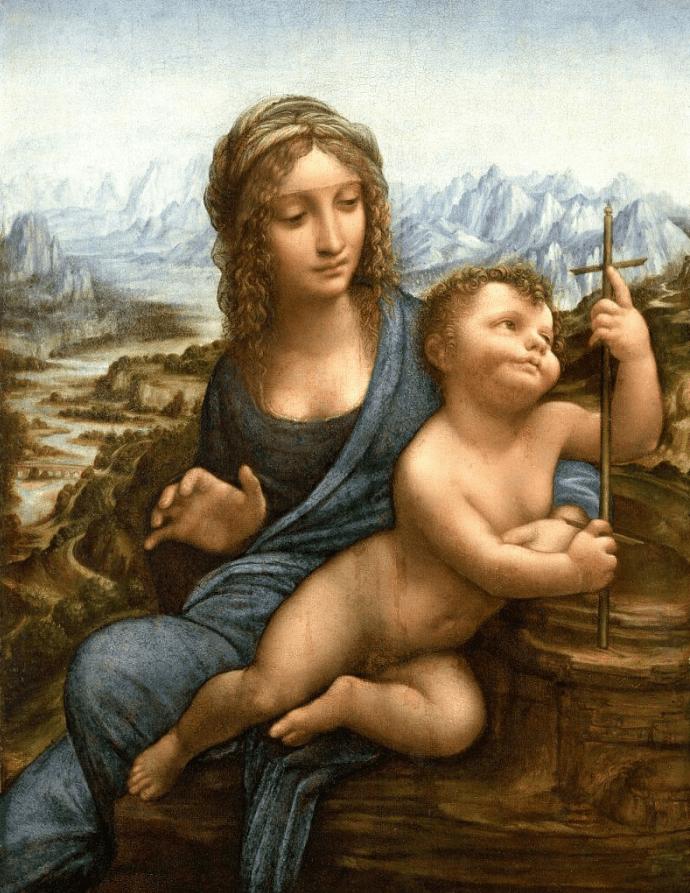 Madonna of the Yarnwinder leonardo da vinci paintings