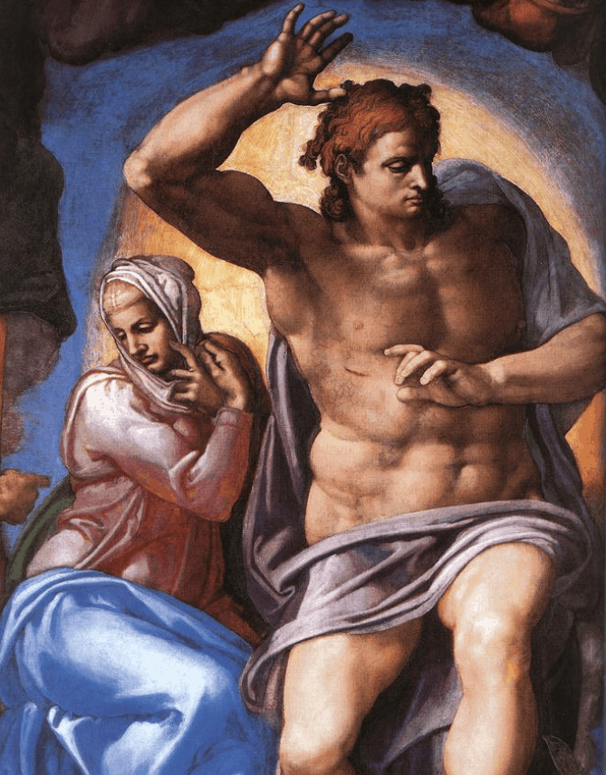 Mary and Christ last judgement