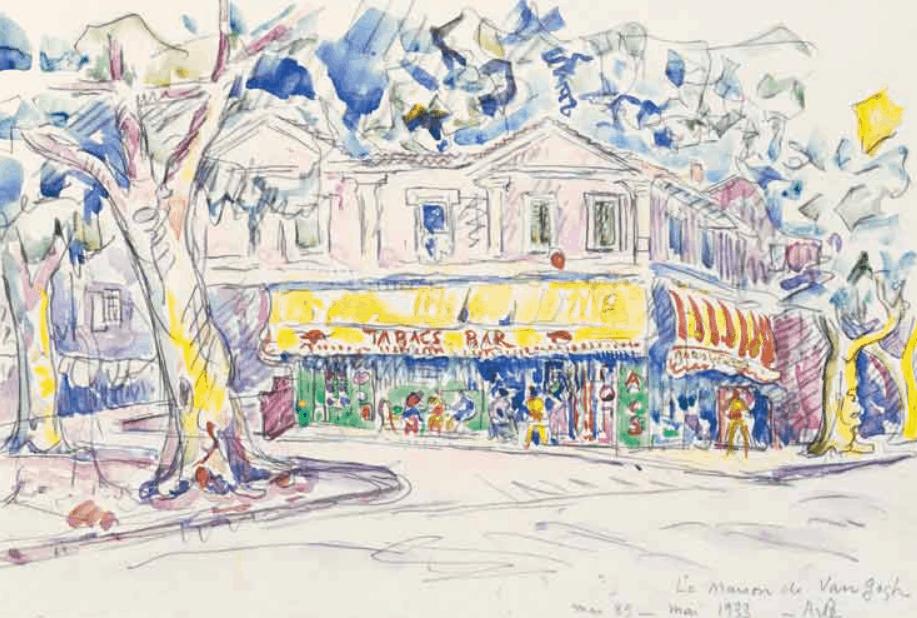 Watercolor of the house of van Gogh by Paul Signac.