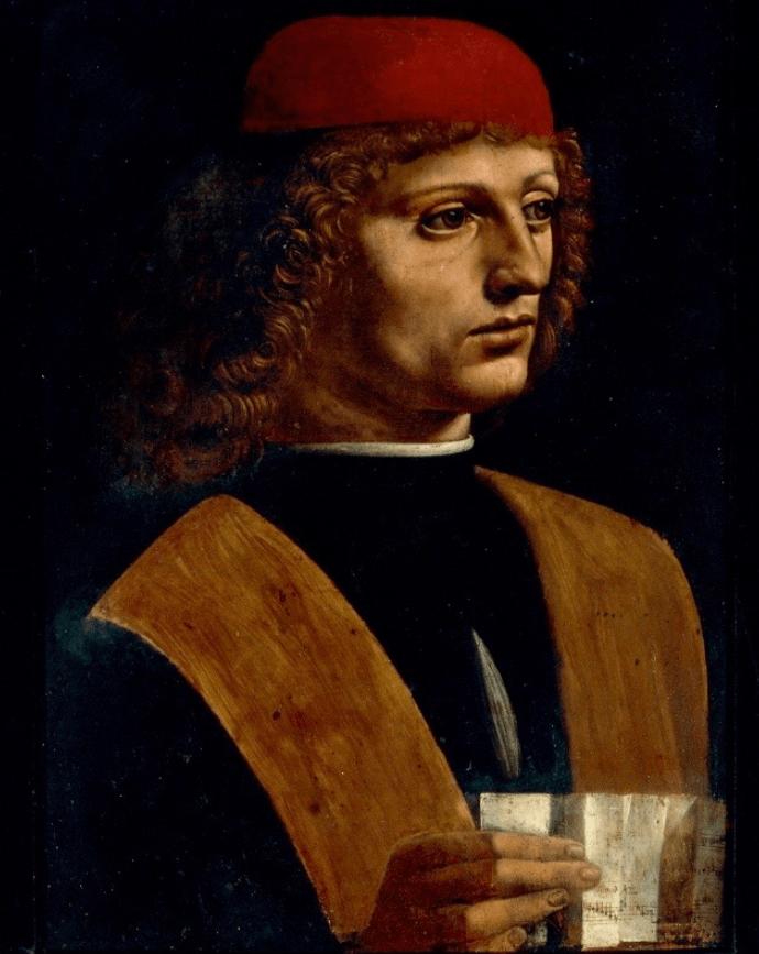 Portrait of a musician leonardo da vinci famous paintings