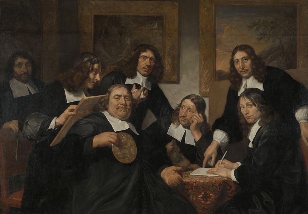 The Haarlem Painter's Guild in 1675, by Jan de Bray.
