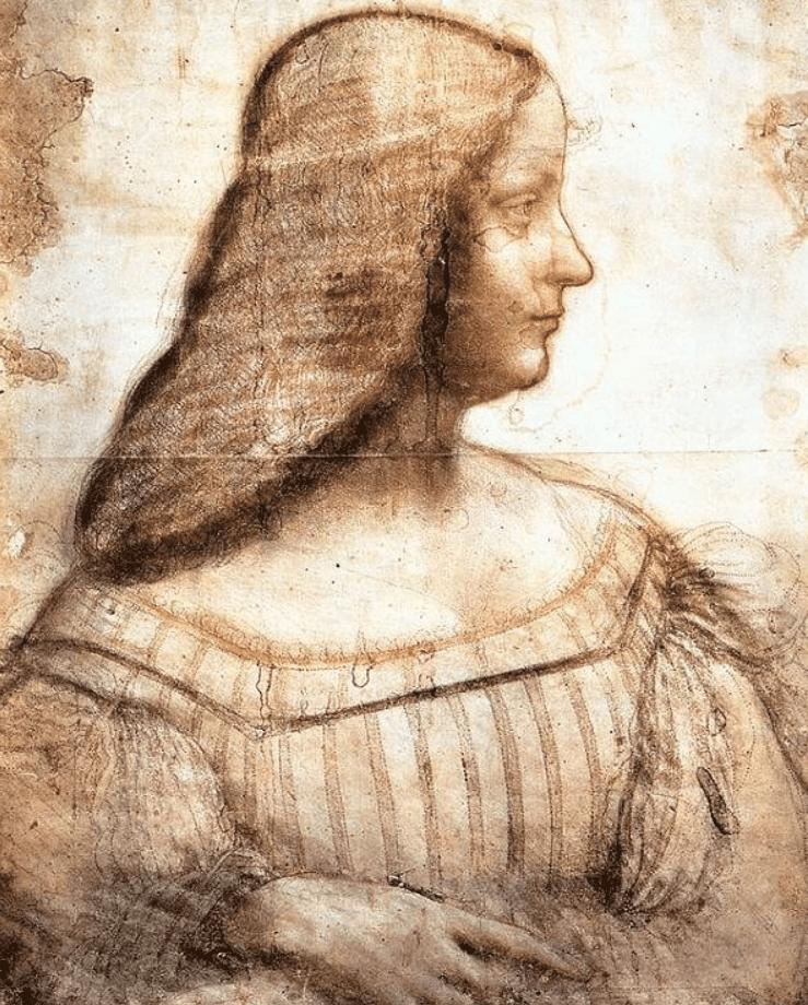 Portrait of Isabella d'Este da vinci