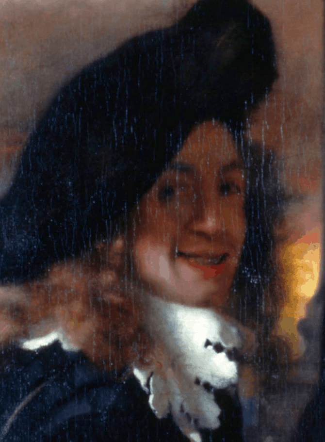 The only supposed portrait of Johannes Vermeer.