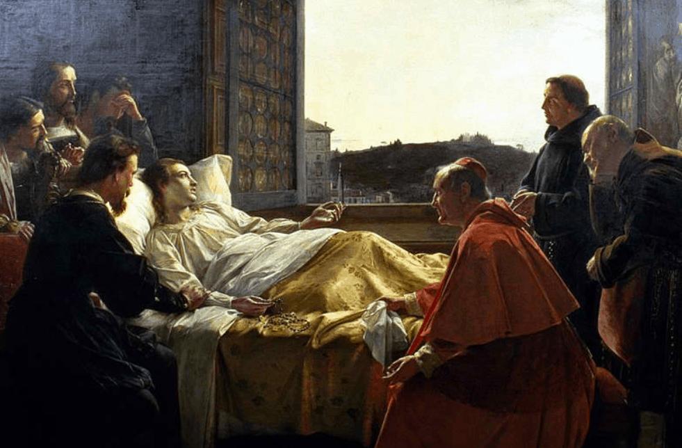 Raphael on his deadbed