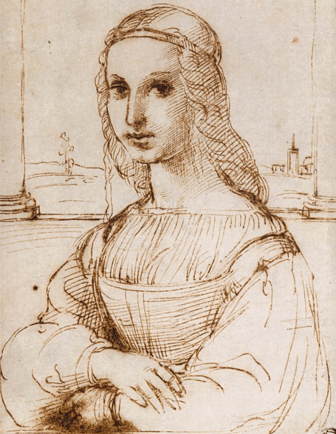 Raphael's sketch of the Mona Lisa made in 1505