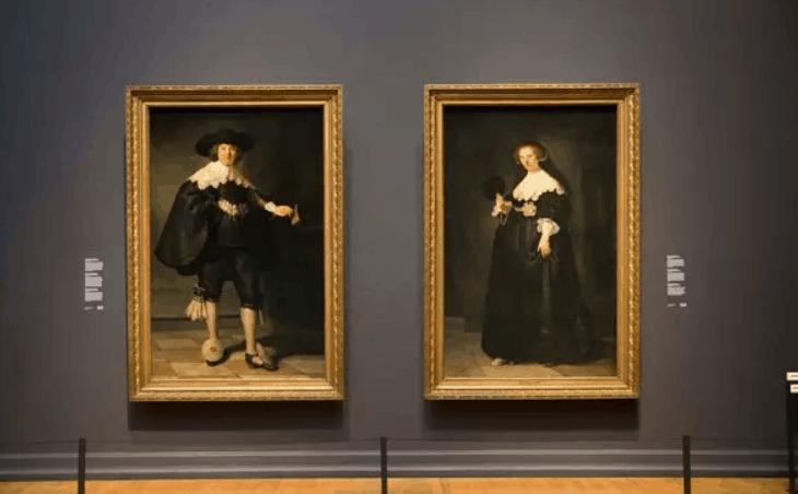 Portrait of Marten Soolmans and Portrait of Oopjen Coppit louvre and rijskmuseum