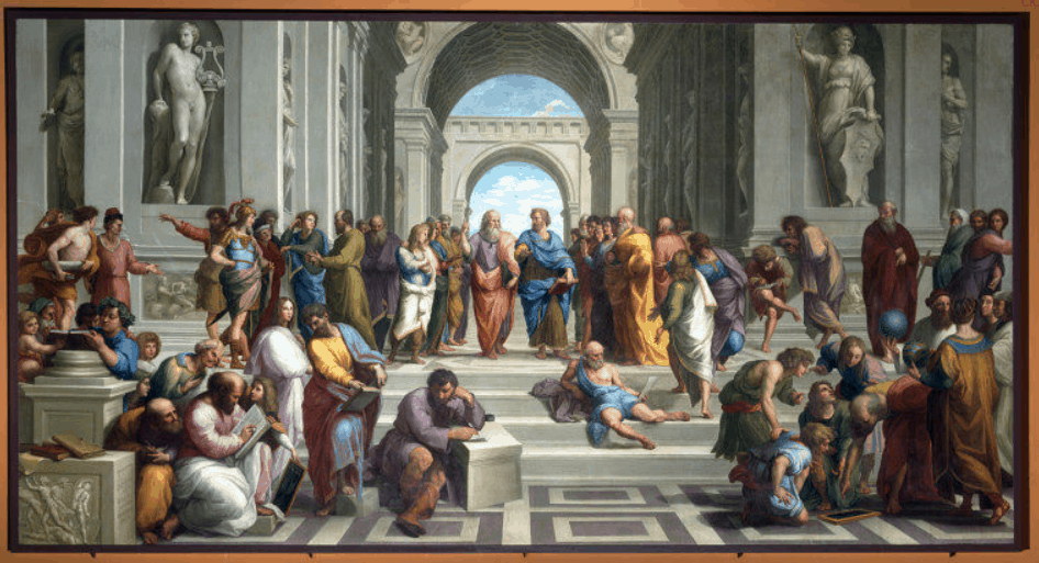The 1755 copy of the School of Athens.
