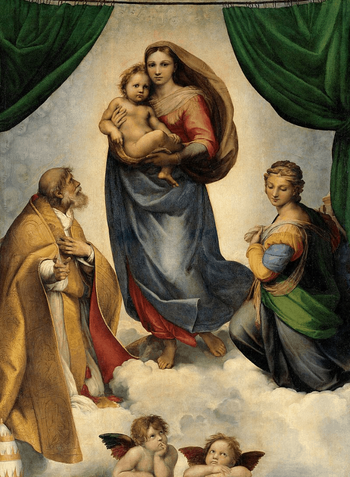famous paintings by raphael The sistine madonna