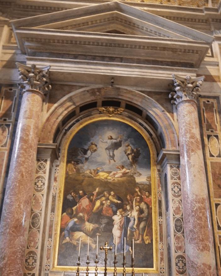 Altar of Transfiguration, Saint Peters Basilica