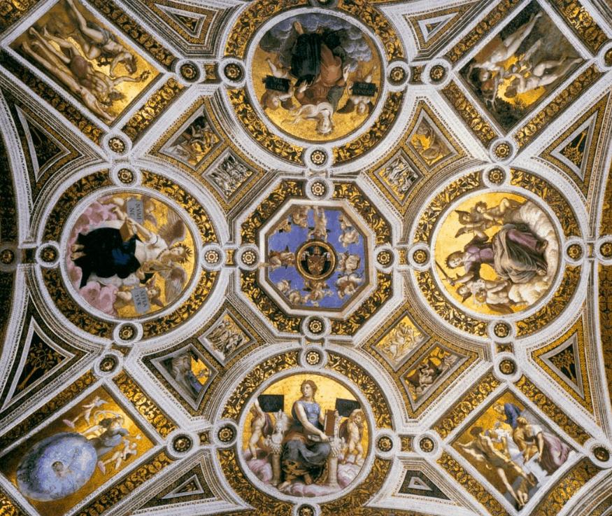 Stanza della segnatura ceiling