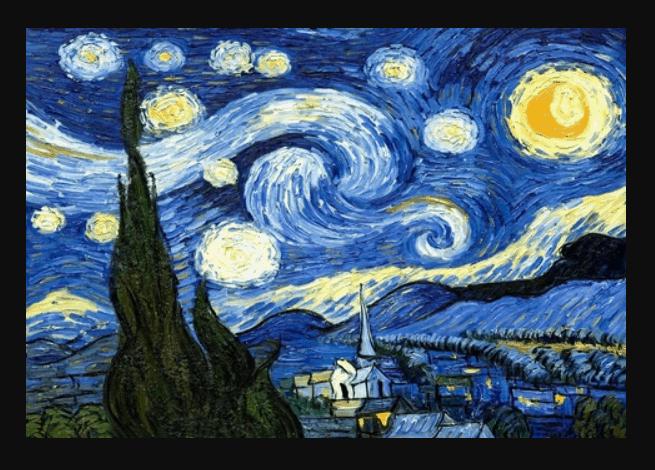 Starry night painting van gogh new york city