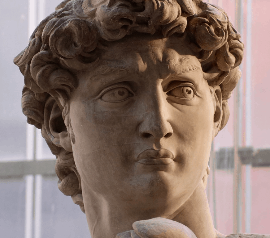 facts about the statue of david eyes