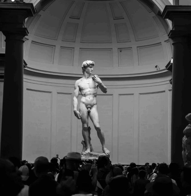 Statue of David marble