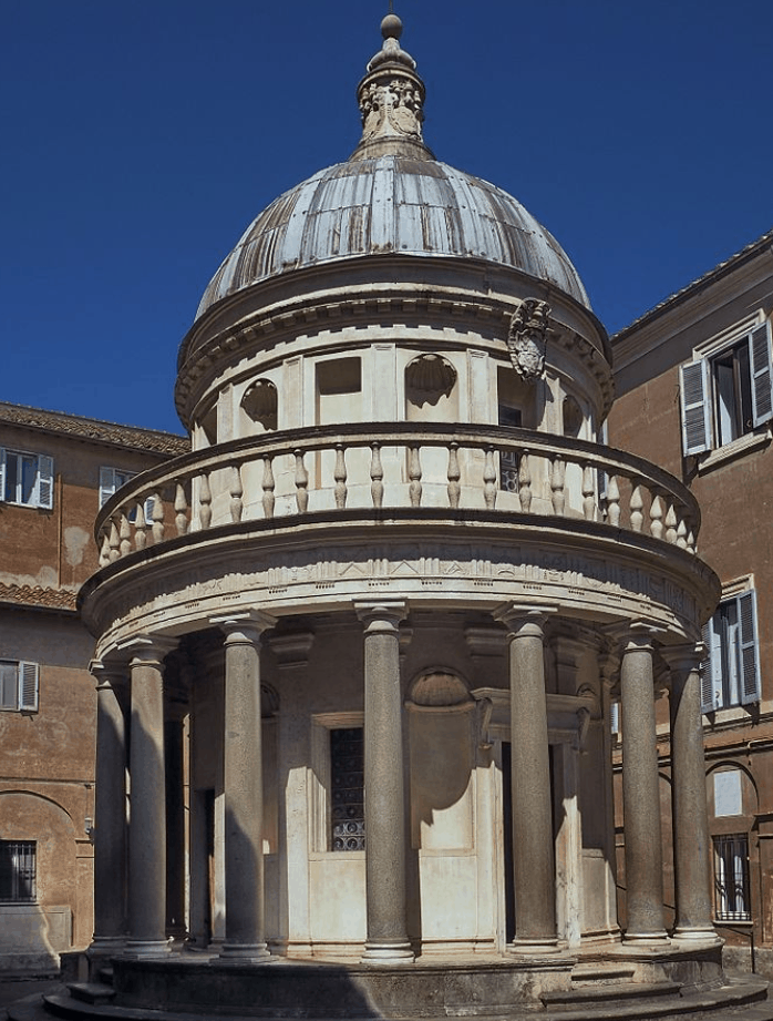 Tempietto at the church where the Transfiguration once was the altarpiece