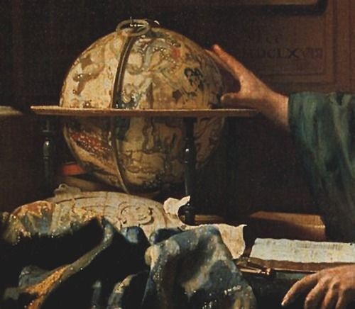the astronomer globe and book
