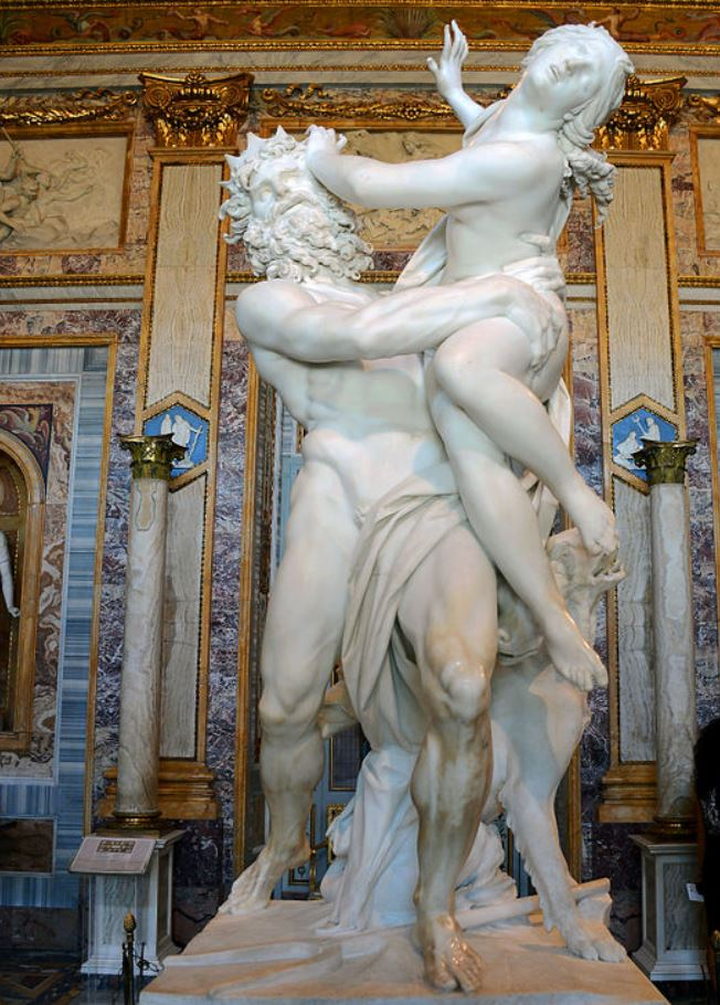 the rape of prosperina by Bernini