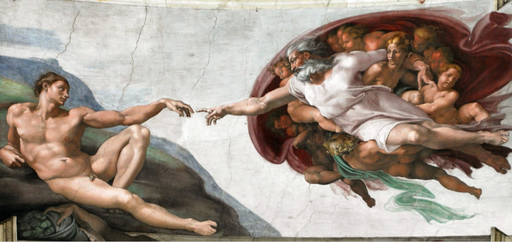 the creation of adam michelangelo famous works