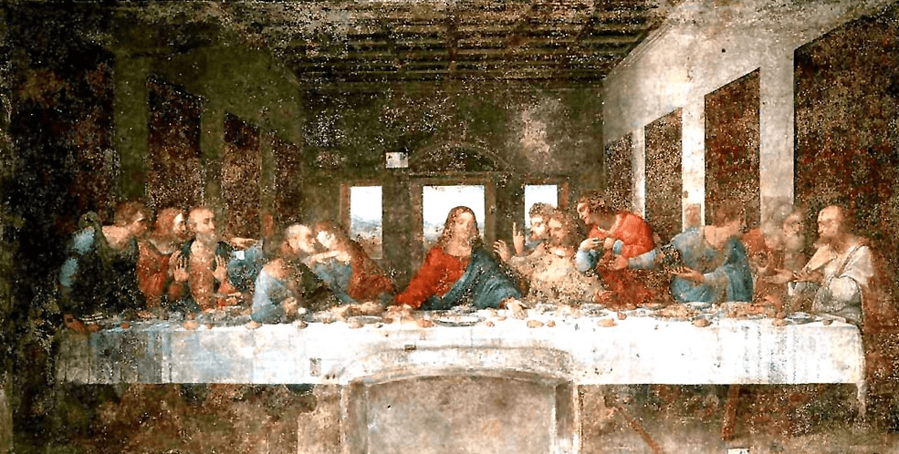 How the Last Supper looked like in the 1970s
