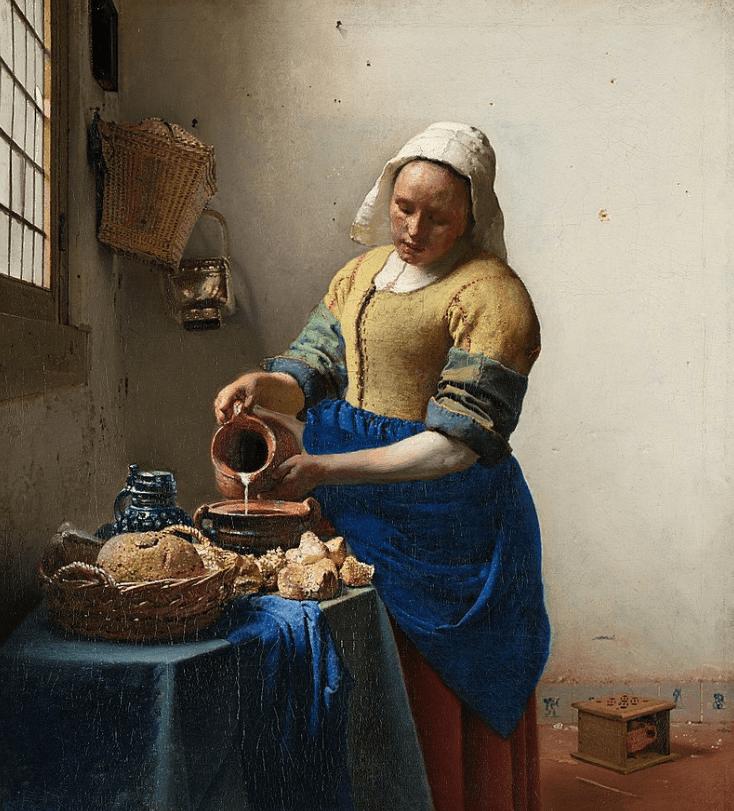 The milkmaid vermeer