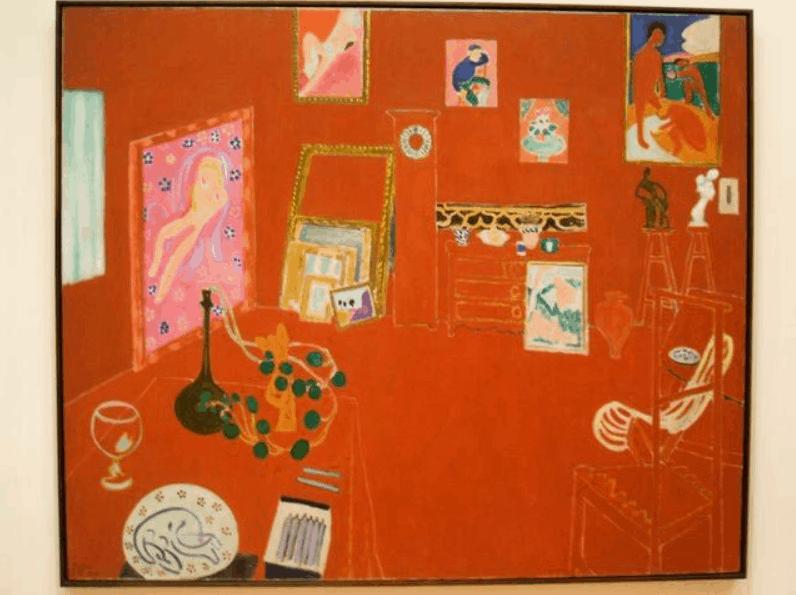 the red studio painting museum of modern art new york city