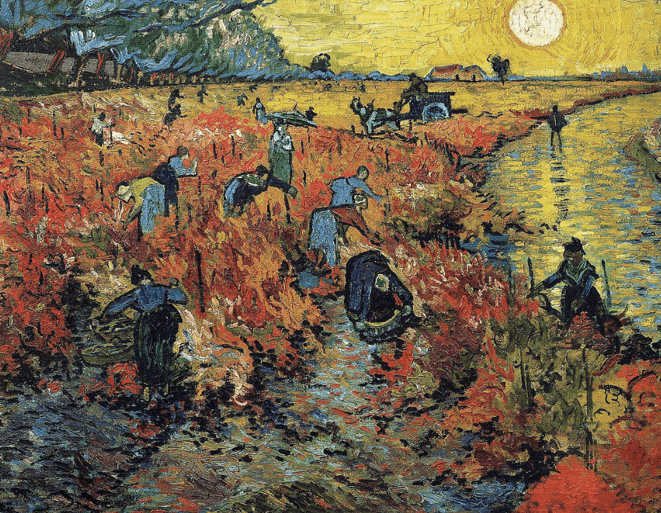 The red vineyard