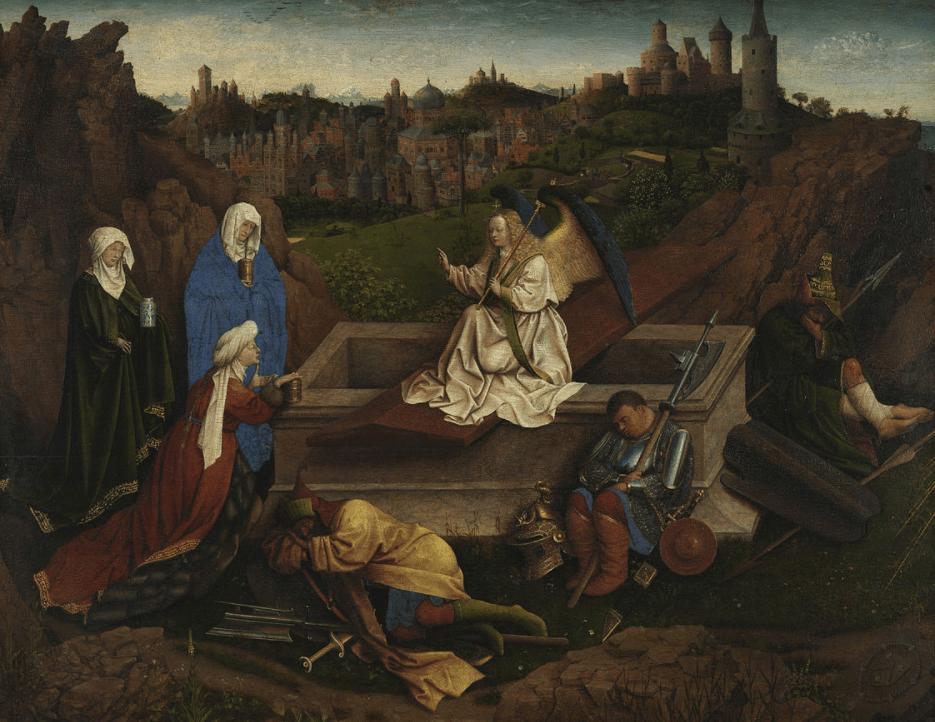 The Three Marys at the Tomb Jan van Eyck
