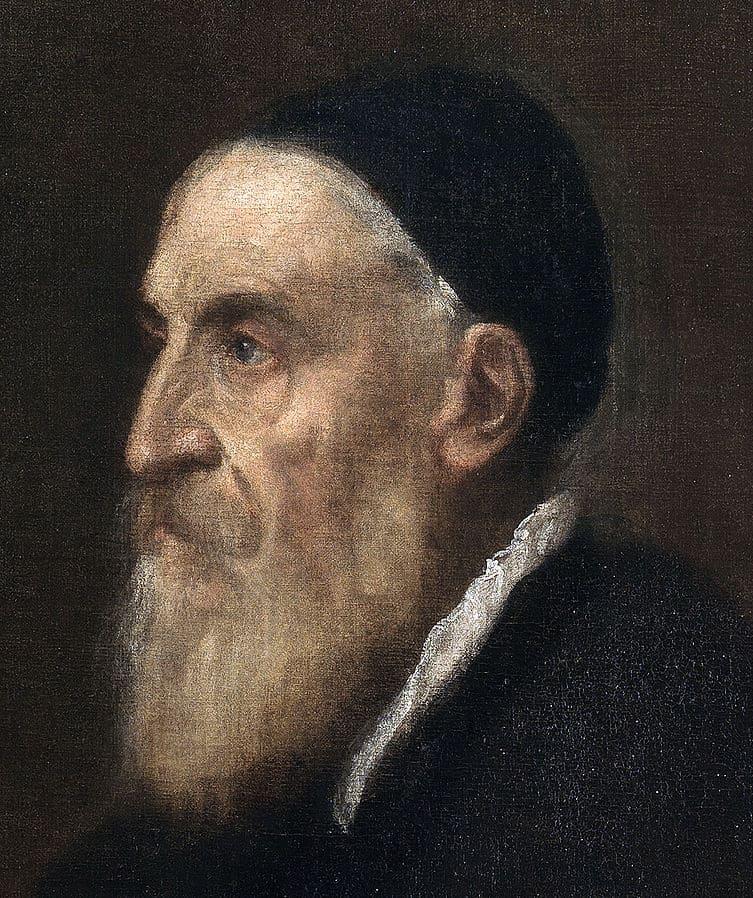 Titian as an old man