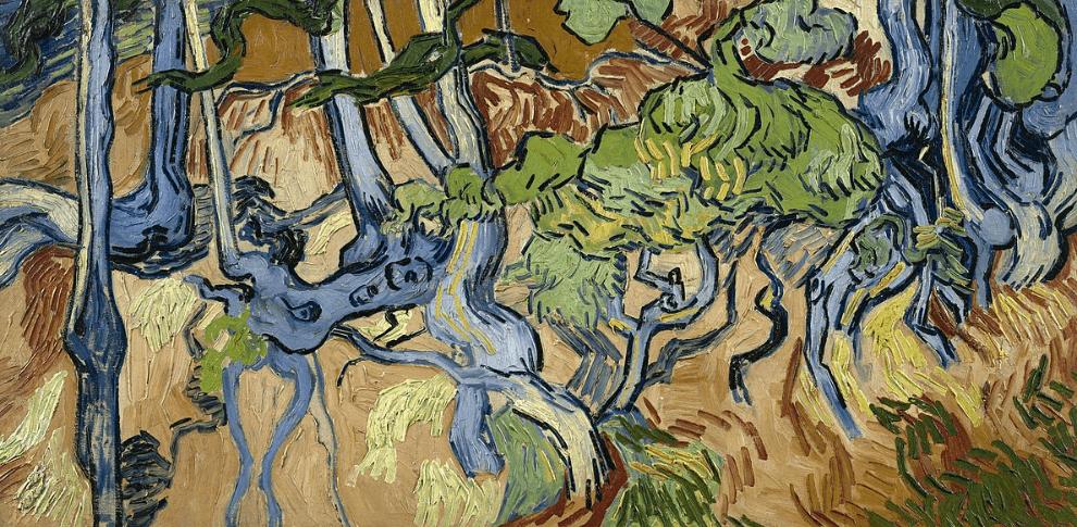 Tree roots van gogh