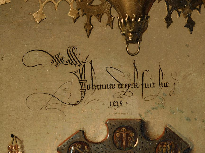 Van Eyck Signature arnolfini portrait