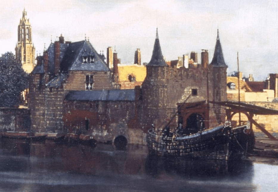 View of delft by Johannes Vermeer Lighting