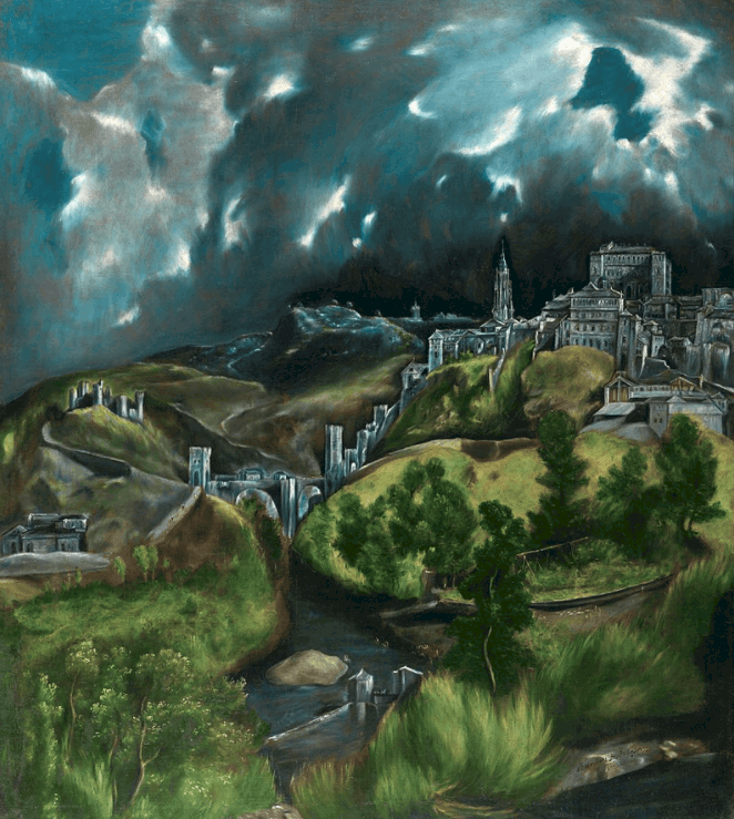 View of Toledo famous paintings by El greco