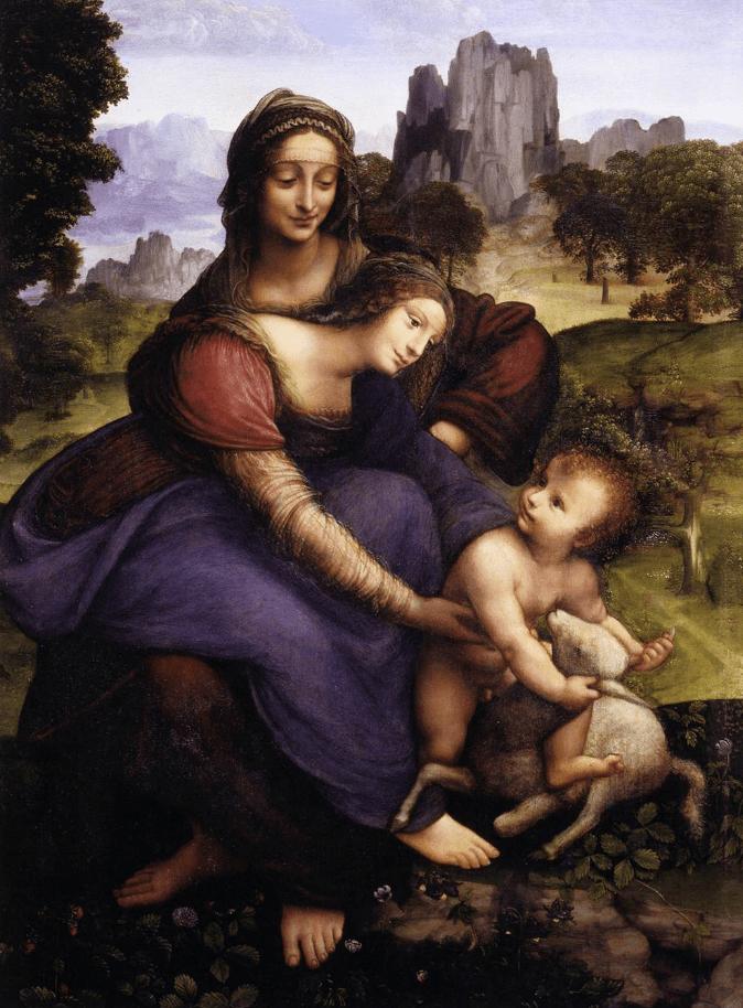 The Virgin and Child with St. Anne leonardo da vinci